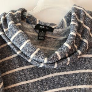 Style & Co Sweaters - Style & Co Metallic Striped Cowl-Neck Sweater